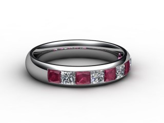 Ruby and Diamond 1.40cts. in Platinum