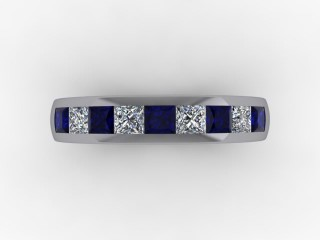 Blue Sapphire and Diamond 1.40cts. in Platinum