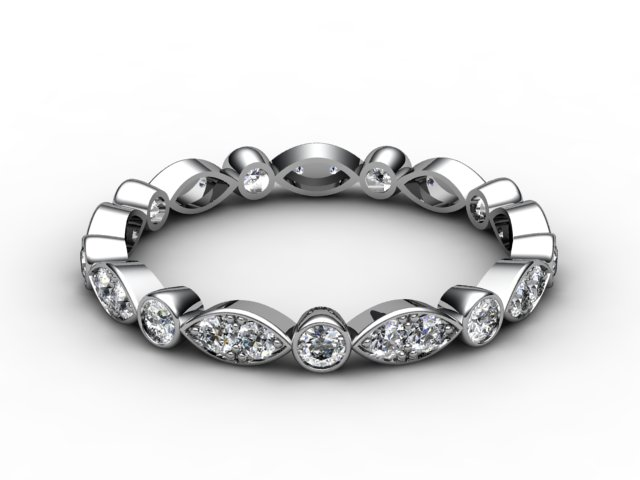 Full Diamond Eternity Ring 0.56cts. in Platinum