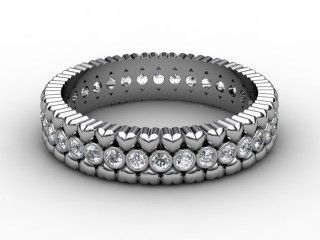 Full Diamond Eternity Ring 0.34cts. in Platinum-88-01113