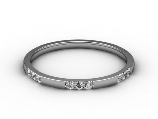 Half-Set Diamond Eternity Ring 0.18cts. in Platinum