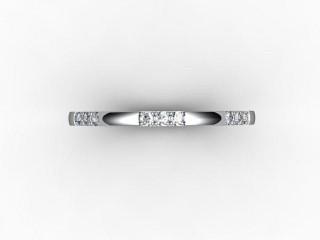 Half-Set Diamond Eternity Ring 0.18cts. in Platinum