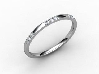Half-Set Diamond Eternity Ring 0.18cts. in Platinum - 12