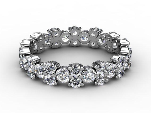 Full Diamond Eternity Ring 1.66cts. in Platinum