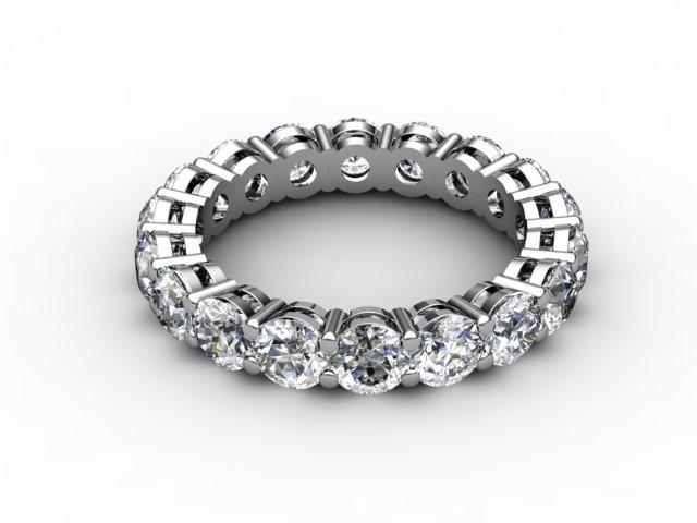 Full Diamond Eternity Ring 2.63cts. in Platinum