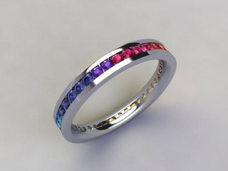 Rainbow Sapphires 1.00cts. in Platinum