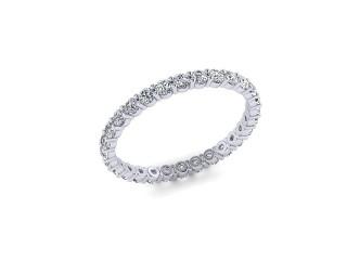 Full Diamond Eternity Ring 0.85cts. in Platinum