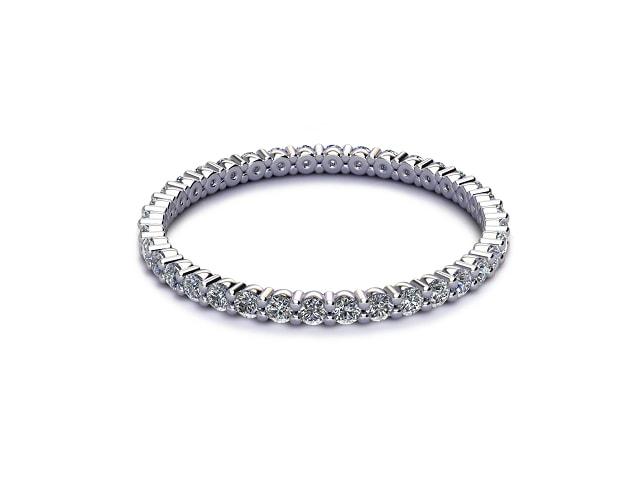 Full Diamond Eternity Ring 0.50cts. in Platinum