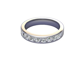 1.00cts. Diamond Half-Set Eternity Ring  in Platinum-88-01532