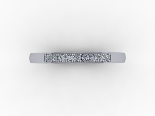 0.11cts. 1/4 Set Platinum Eternity Ring - 9