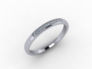 0.11cts. 1/4 Set Platinum Eternity Ring - 12