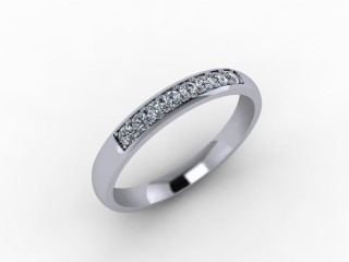0.20cts. 1/4 Set Platinum Eternity Ring