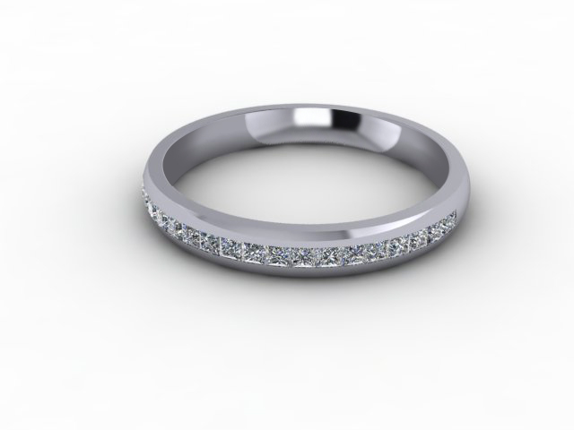 0.39cts. Half-Set Platinum Eternity Ring