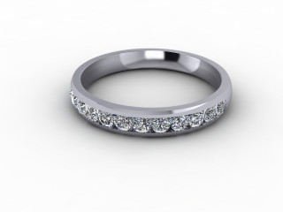 0.57cts. Half-Set Platinum Lab Grown Diamond Eternity Ring-88-01721LG