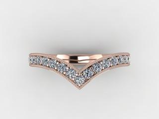 Half-Set Diamond Eternity Ring 0.38cts. in 18ct. Rose Gold