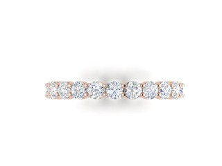Full Diamond Eternity Ring 1.81cts. in 18ct. Rose Gold