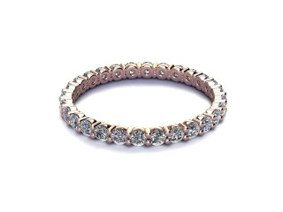 Full Diamond Eternity Ring 0.85cts. in 9ct. Rose Gold-88-44512