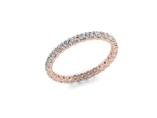 Full Diamond Eternity Ring 0.85cts. in 18ct. Rose Gold