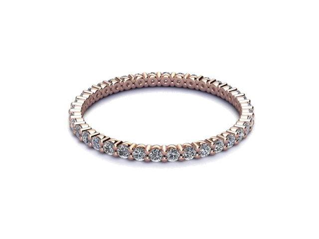 Full Diamond Eternity Ring 0.50cts. in 18ct. Rose Gold