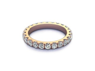 Full Diamond Eternity Ring 1.40cts. in 18ct. Rose Gold