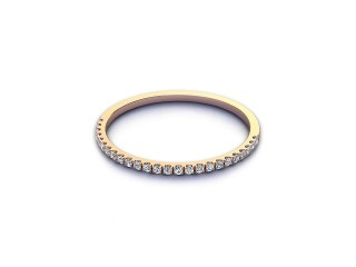 Half-Set Diamond Eternity Ring 0.10cts. in 9ct. Rose Gold-88-44524