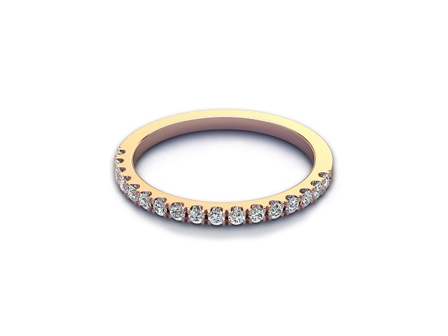 Half-Set Diamond Eternity Ring 0.22cts. in 18ct. Rose Gold