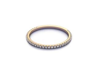 Half-Set Diamond Eternity Ring 0.15cts. in 9ct. Rose Gold-88-44527