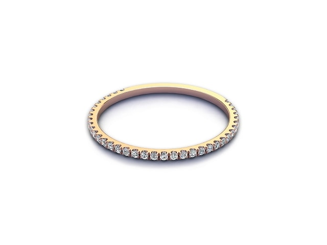 Half-Set Diamond Eternity Ring 0.15cts. in 18ct. Rose Gold