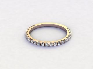 Half-Set Diamond Eternity Ring 0.33cts. in 18ct. Rose Gold