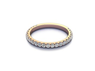Half-Set Diamond Eternity Ring 0.55cts. in 9ct. Rose Gold