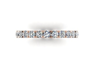 Half-Set Diamond Eternity Ring 1.00cts. in 18ct. Rose Gold - 3