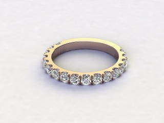 Half-Set Diamond Eternity Ring 1.00cts. in 18ct. Rose Gold