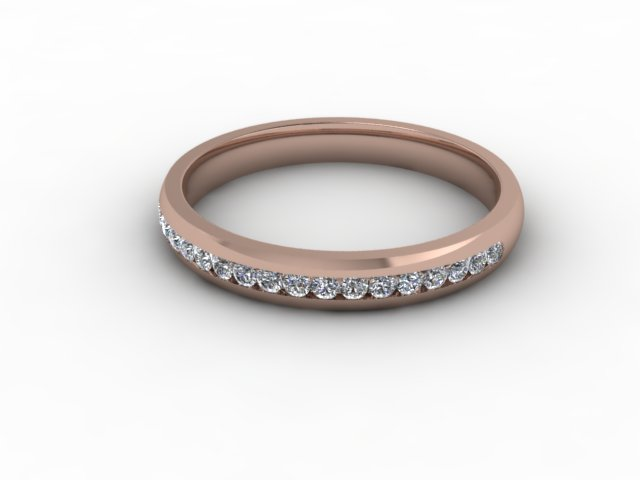 0.26cts. Half-Set 18ct Rose Gold Eternity Ring