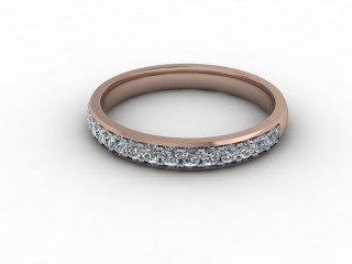 0.36cts. Half-Set 18ct Rose Gold Eternity Ring-88-04711