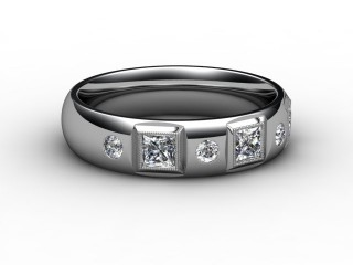 Half-Set Diamond Eternity Ring 0.45cts. in 18ct. White Gold