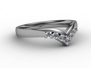 Half-Set Diamond Eternity Ring 0.25cts. in 9ct. White Gold-88-46015