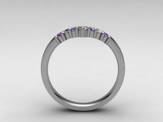 Amethyst and Diamond 0.21cts. in 18ct. White Gold - 3