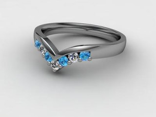 Blue Topaz and Diamond 0.24cts. in 18ct. White Gold-88-05015-138