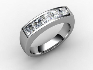 Half-Set Diamond Eternity Ring 1.40cts. in 18ct. White Gold