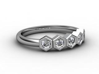 Half-Set Diamond Wedding Ring 0.30cts. in 9ct. White Gold-W88-46022