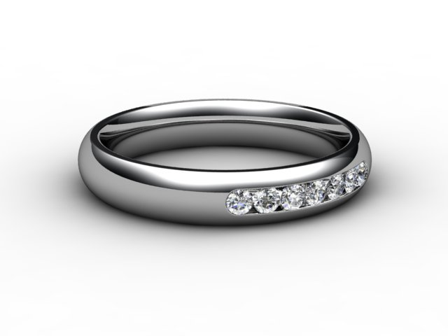Half-Set Diamond Eternity Ring 0.15cts. in 18ct. White Gold