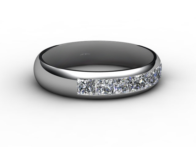 Half-Set Diamond Eternity Ring 0.84cts. in 18ct. White Gold