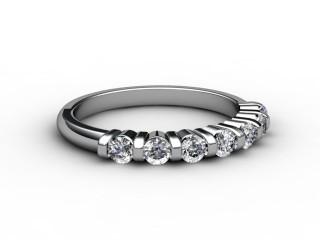 Half-Set Diamond Wedding Ring 0.35cts. in 9ct. White Gold-W88-46033