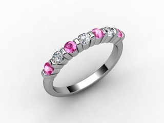 Pink Sapphire and Diamond 0.88cts. in 18ct. White Gold