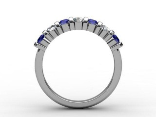 Blue Sapphire and Diamond 0.88cts. in 18ct. White Gold - 3