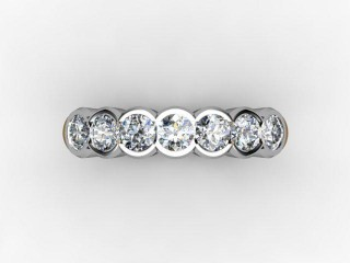 Half-Set Diamond Eternity Ring 0.49cts. in 18ct. White Gold