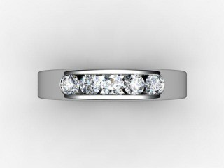 Half-Set Diamond Eternity Ring 0.50cts. in 18ct. White Gold
