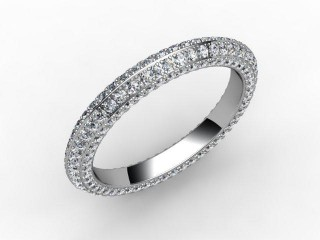 Full Diamond Eternity Ring 1.30cts. in 18ct. White Gold