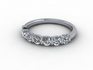 Half-Set Diamond Eternity Ring 0.70cts. in 9ct. White Gold-88-46052
