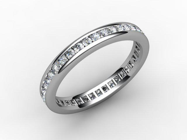 Full Diamond Eternity Ring 0.78cts. in 18ct. White Gold